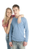 Portrait of a romantic young couple Royalty Free Stock Photos