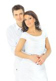 Portrait of a romantic young couple Royalty Free Stock Photography