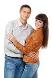 Portrait of a romantic young couple Stock Photo