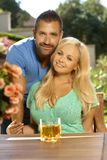 Portrait of romantic young couple Royalty Free Stock Image