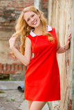 Portrait of a romantic young girl royalty free stock photography