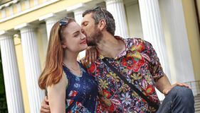 Portrait romantique des couples photographie stock libre de droits
