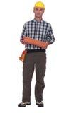 Portrait of a roofer Stock Images