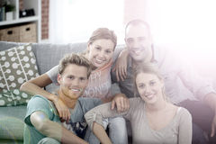 Portrait of roomates in the flat Royalty Free Stock Images