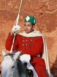 Equestrian royal guardsman, Rabat - Morocco Stock Images