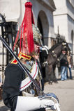 Portrait of Royal Horse Guards in typical uniform Royalty Free Stock Image