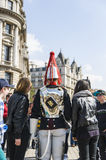 Portrait of Royal Horse Guards in typical uniform Stock Images