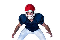 Portrait of rugby player in position Royalty Free Stock Photography