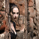 Portrait in ruins Stock Images