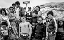 Portrait rural family in Turkey Stock Images