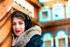 Portrait of a Russian girl Stock Photos