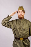 Portrait of a Russian soldier Royalty Free Stock Image