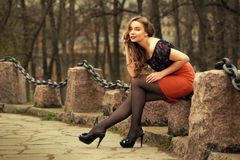 Portrait of russian woman Stock Photography