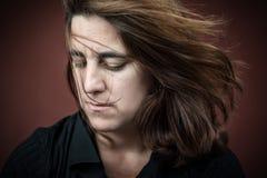 Portrait of a sad adult hispanic woman Royalty Free Stock Image