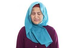 Sad Asian Woman Crying stock photos