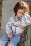 Portrait of sad baby girl Royalty Free Stock Photography