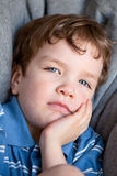 Portrait of sad beautiful boy Stock Photos