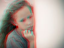 Portrait of sad child royalty free stock images