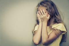 Portrait of sad blond teen girl Stock Image