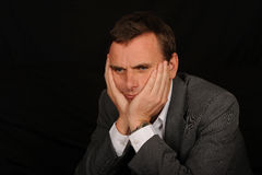 Portrait of sad businessman Royalty Free Stock Image