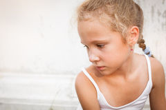 Portrait of sad child Royalty Free Stock Photos