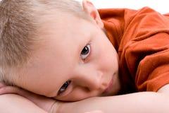 A portrait of a sad child Stock Photos