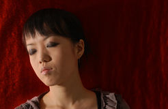 Portrait of a sad chinese girl Royalty Free Stock Photos