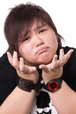 Portrait of sad chubby girl Royalty Free Stock Images