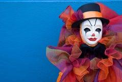 Portrait of a sad clown Stock Photos