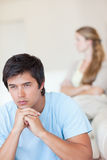 Portrait of a sad couple after an argument Royalty Free Stock Photography