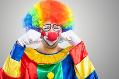 Portrait of a sad crying clown Royalty Free Stock Photography