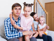Portrait of sad family Royalty Free Stock Image