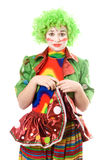 Portrait of a sad female clown. Isolated Royalty Free Stock Photography