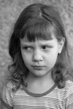 Portrait of a sad girl. Portrait of a sad child, the girl is 5 years old Stock Photography