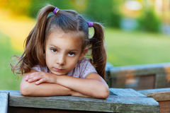 Portrait of sad girl (child) Royalty Free Stock Image