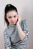 Portrait of a sad girl Royalty Free Stock Photos