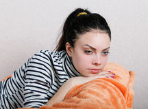 Portrait of a sad girl Stock Photography