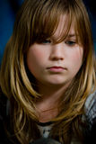 Portrait of a sad girl Royalty Free Stock Photo
