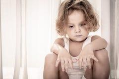 Portrait of sad little boy Royalty Free Stock Photography