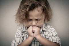 Portrait of sad little boy Royalty Free Stock Photos