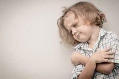 Portrait of sad little boy Royalty Free Stock Photo