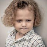 Portrait of sad little boy Royalty Free Stock Image