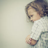 Portrait of sad little boy Stock Photography