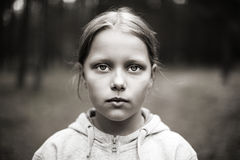Portrait of sad little girl Royalty Free Stock Photography