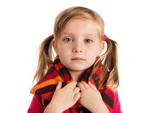 Portrait of a sad  little girl Royalty Free Stock Images