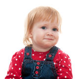 Portrait of a sad little girl Royalty Free Stock Photo