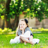 Portrait of sad little girl Royalty Free Stock Photo