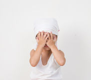 Portrait of sad  little girl. Royalty Free Stock Photos