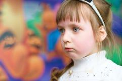 Portrait of a sad little girl. Portrait of a sad cute little girl Royalty Free Stock Photos