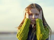 Portrait of sad  little girl Royalty Free Stock Photos
